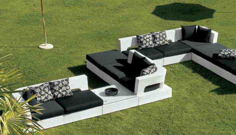 canapé modulaire d'extérieur