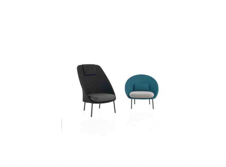 fauteuil et fauteuil à haut dossier