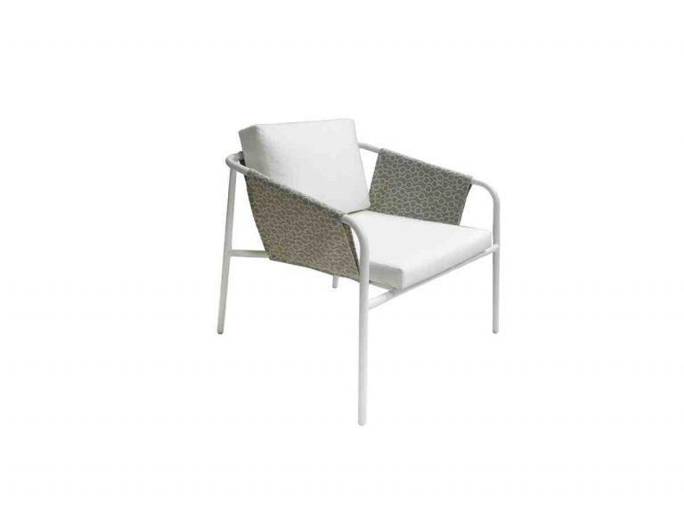 petit fauteuil  d'extérieur en tissu